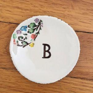 Anthropologie Monogram Ring Dish